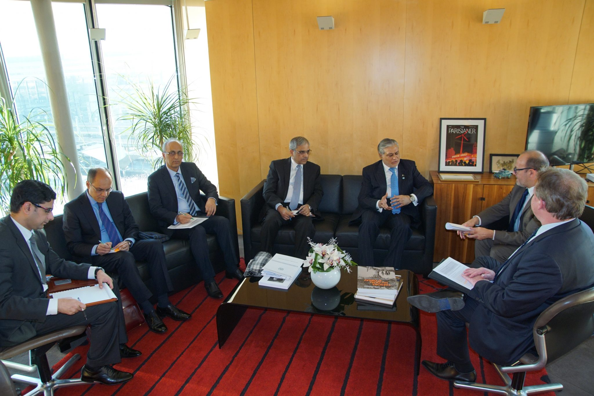senator-mohammad-ishaq-dar-federal-minister-for-finance-and-economic-affairs-of-pakistan-is-meeting-with-mr-remy-rioux-ceo-of-french-development-agency-afd-in-afd-headquarters-paris-france-t